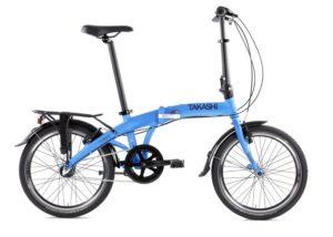 vélo pliant bleu takashi